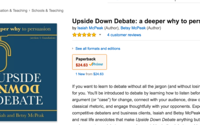 Upside Down Debate – the Ethos Debate Book
